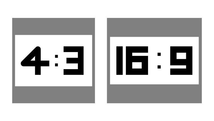 aspect ratio of projector screen