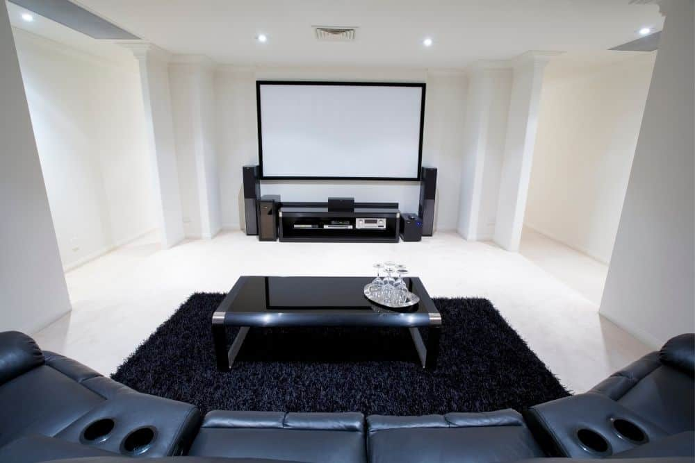 home theater in a bright room