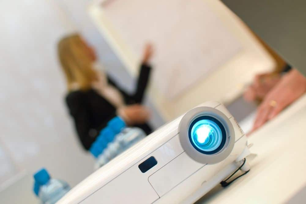 new projector used in a conference room