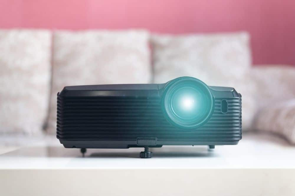 projector in a dorm room