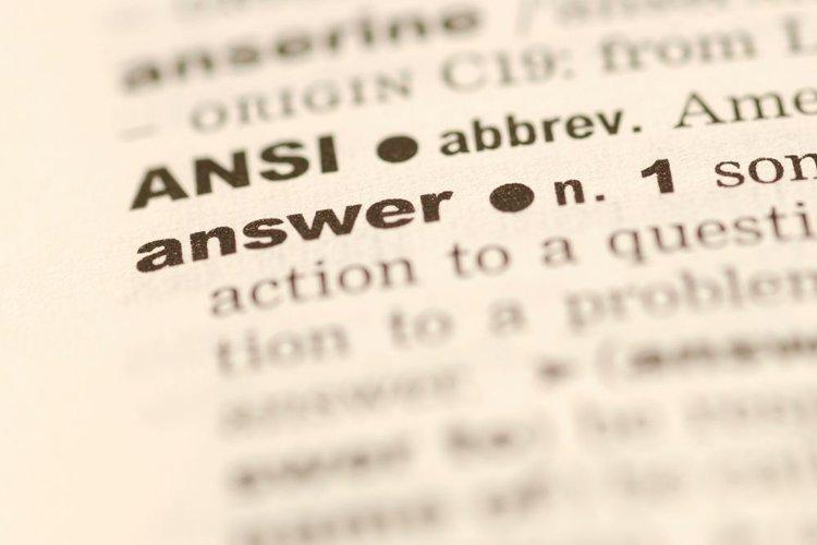 ANSI term