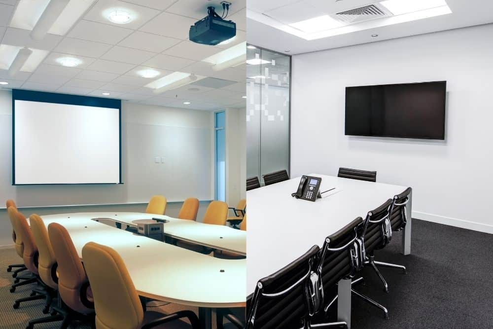 Conference Room Projector vs TV