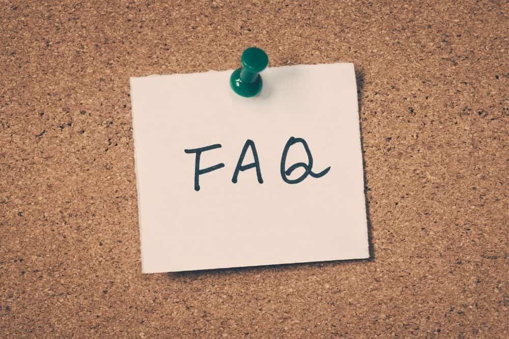 a FAQ note