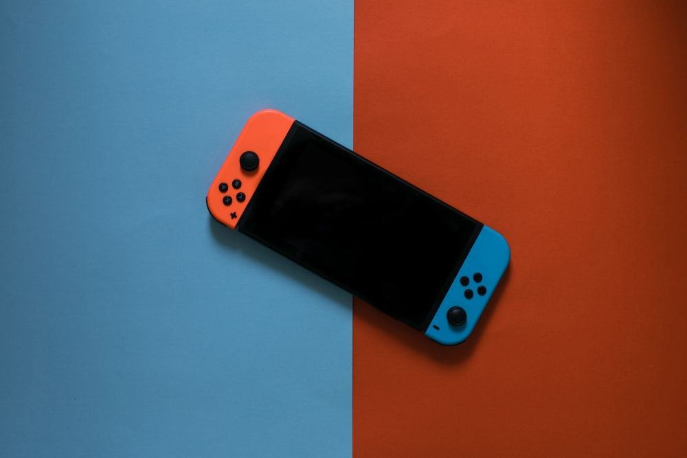 a Nintendo Switch game console