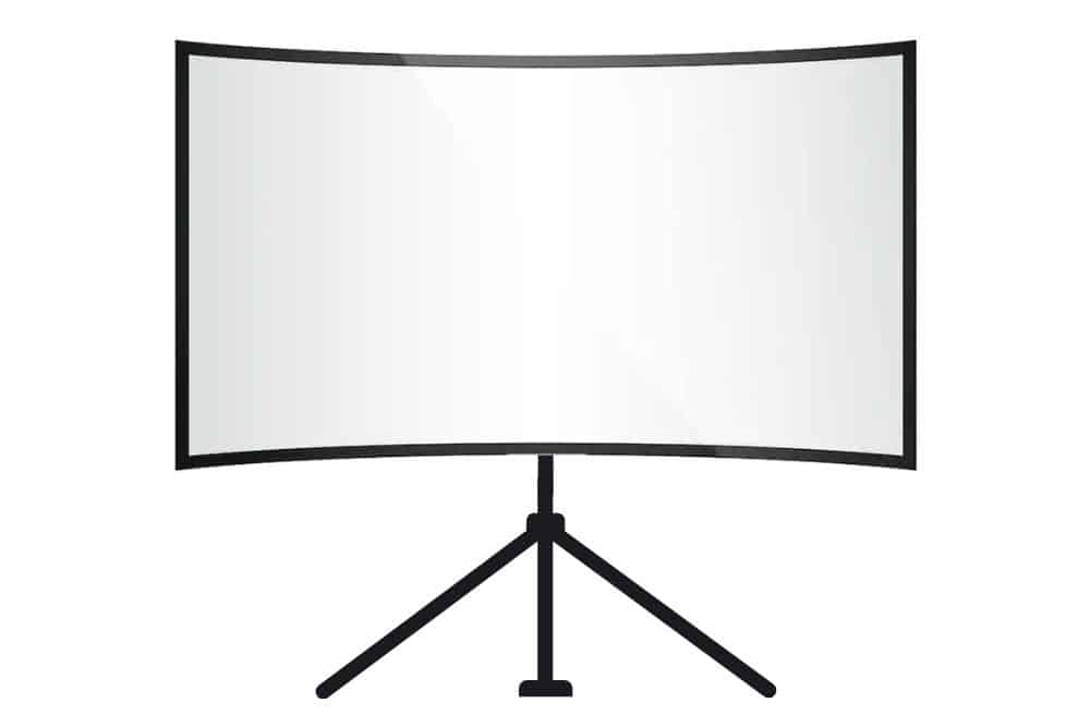a curved projector screen