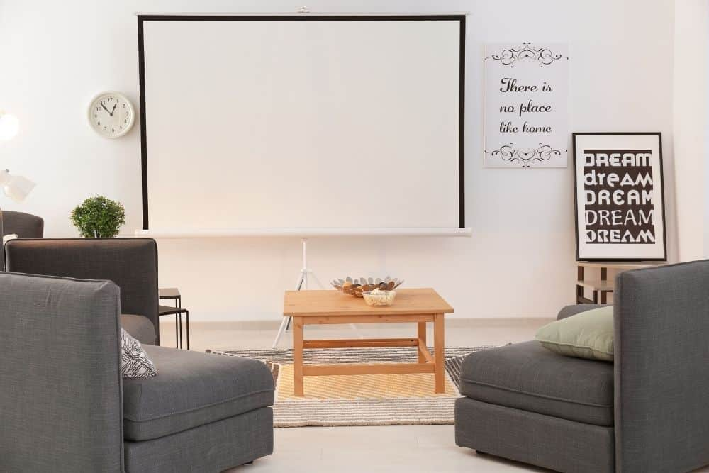 choose a screen with a gain that is recommended to go with your projector