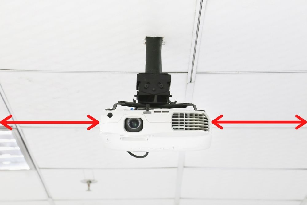 determine the distance of projector to the side