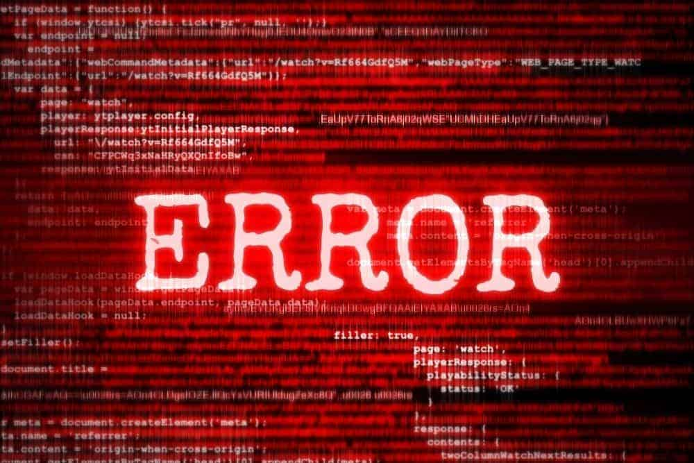 error of auto iris