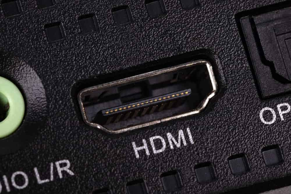 HDMI port on a projector