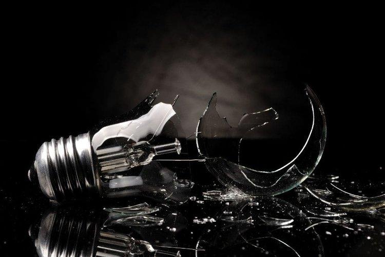 a bulb explodes