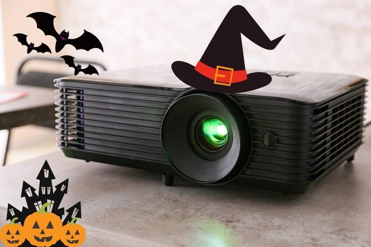 a halloween projector
