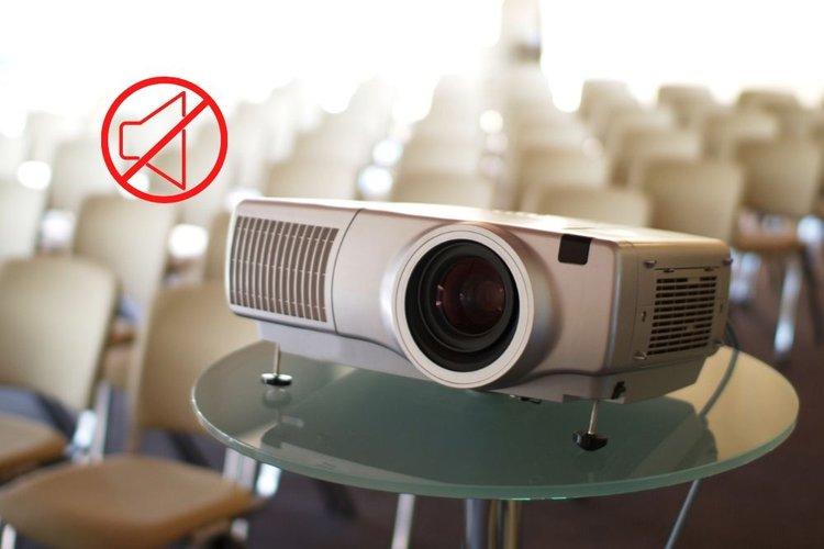 a projector has no sound
