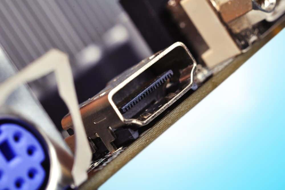 an old HDMI port on a projector