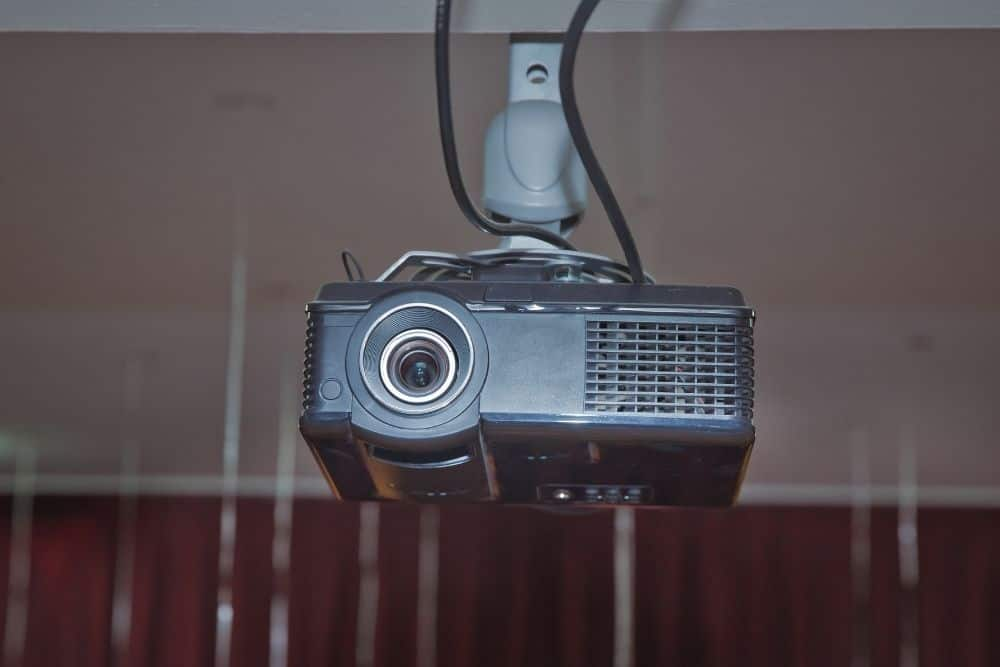 mount projector upside down from the ceiling