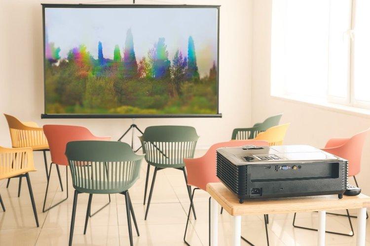 rainbow effect on a DLP projector