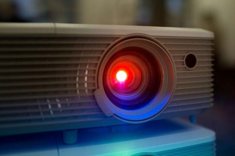 red light benq projector