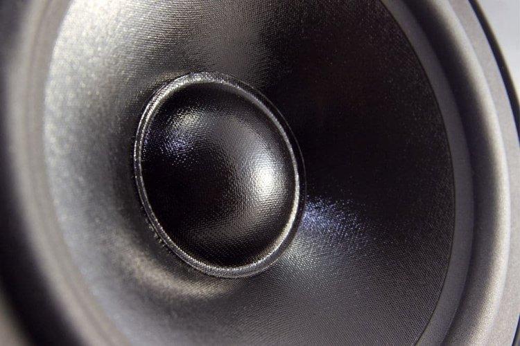 sound speaker closeup