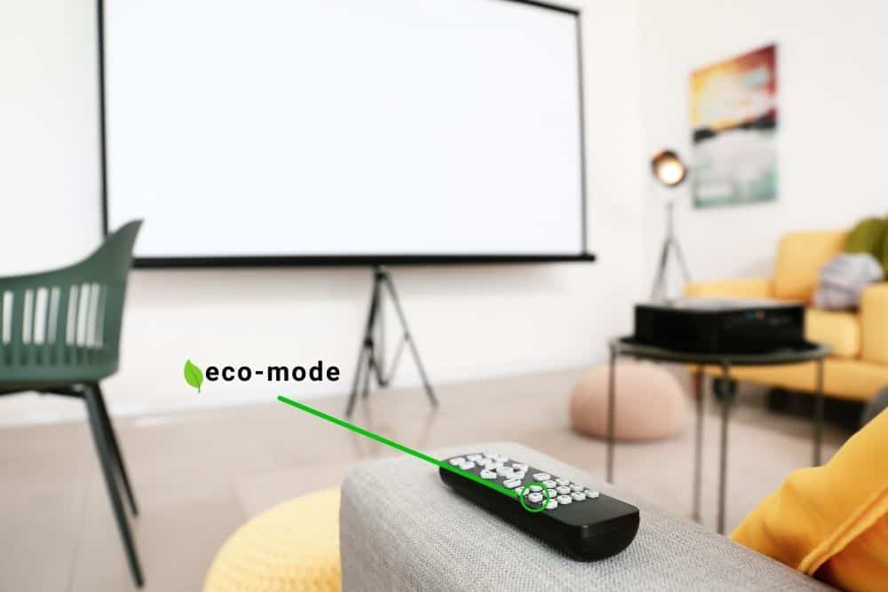 turn off the eco mode of projector