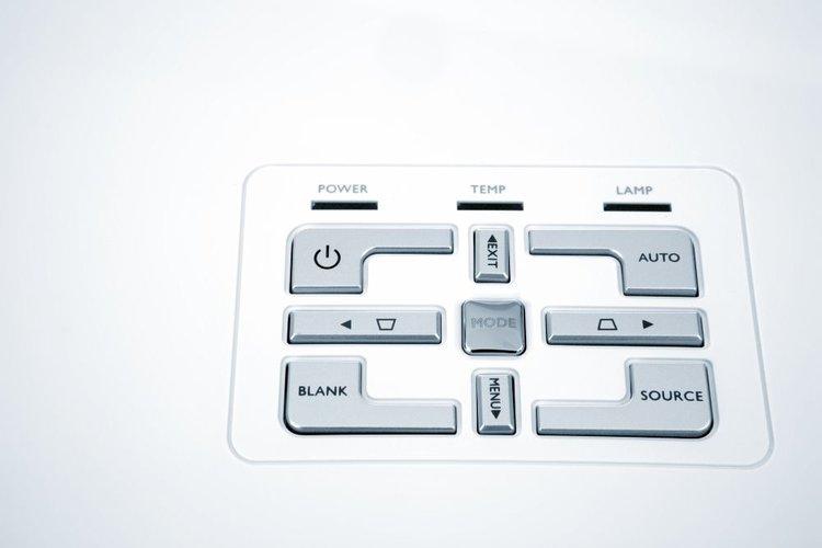 unlock projector buttons