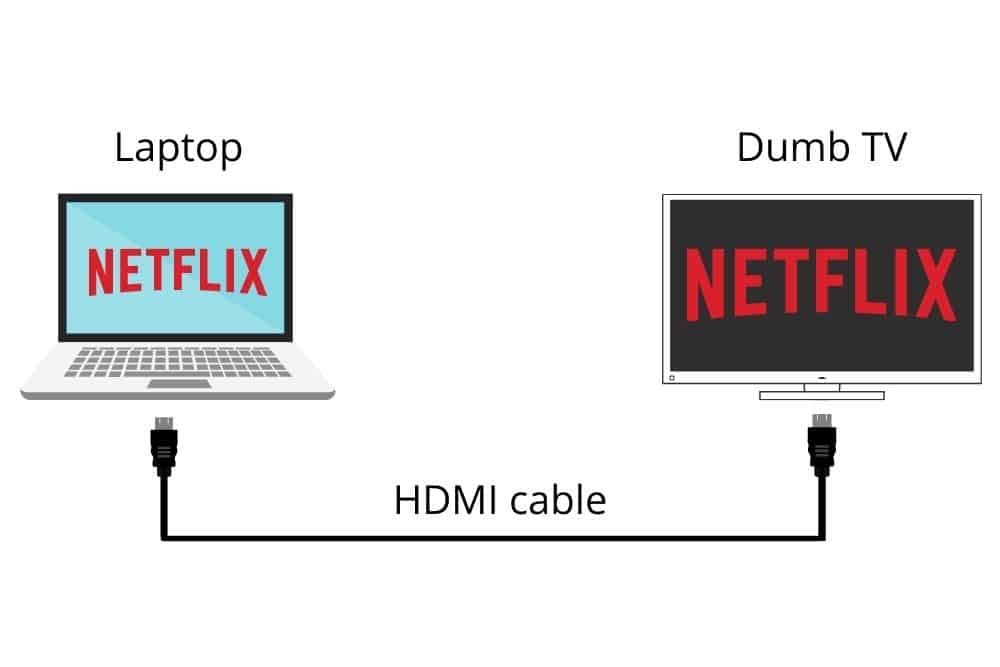 Using your Laptop to watch netflix on my dumb tv