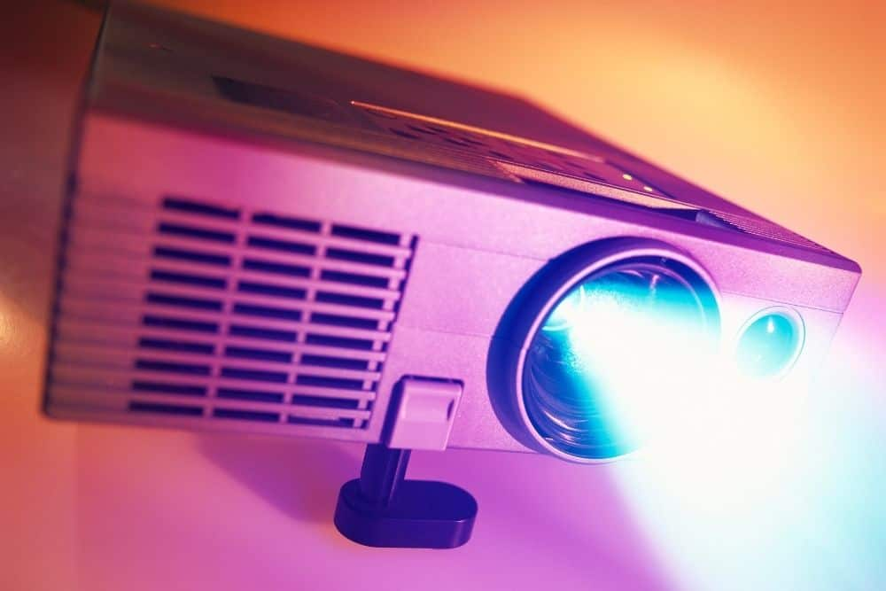 projector gives off non-ionizing types of radiation