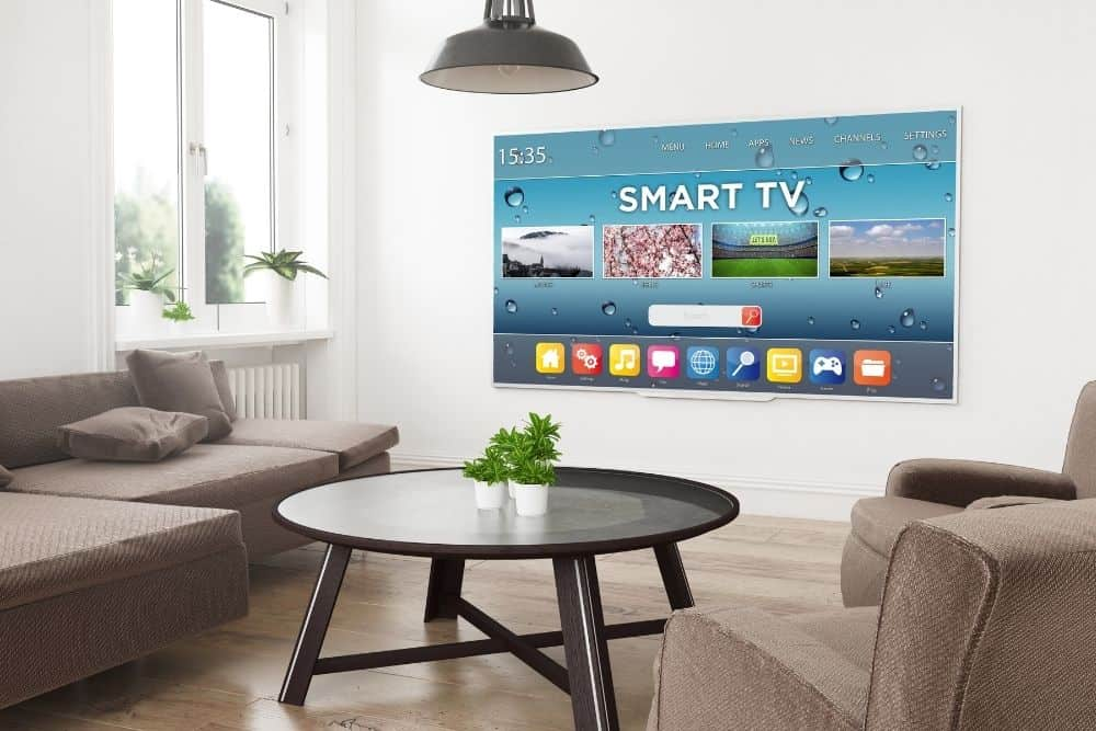 smart tv in a guest room
