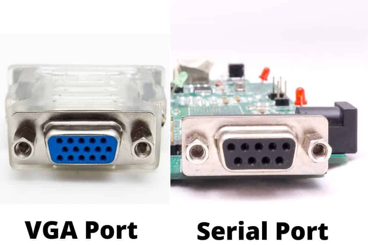 vga port and serial port