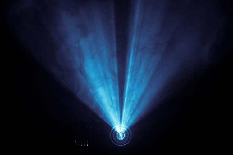 Laser light from a projector