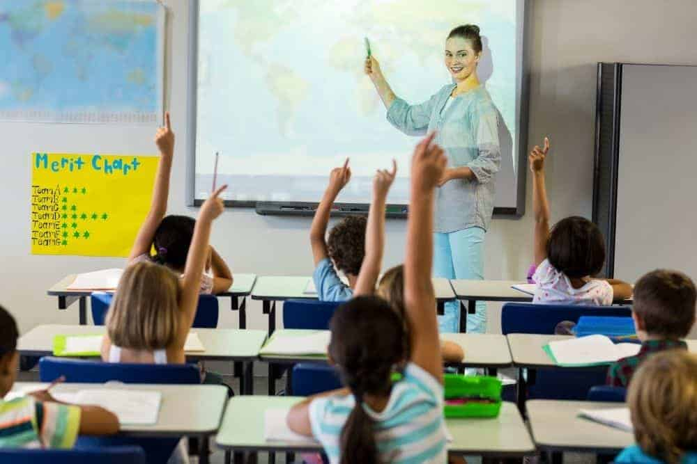 projector increases student engagement in classroom