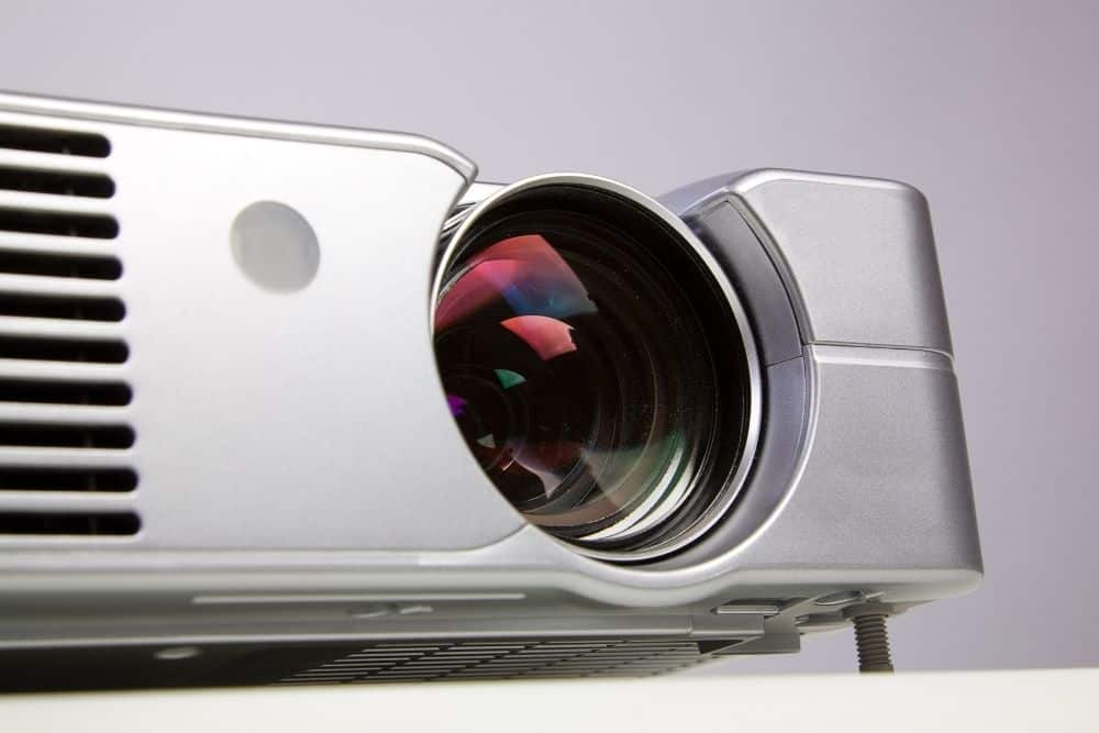 convex (zoom) lens in a projector