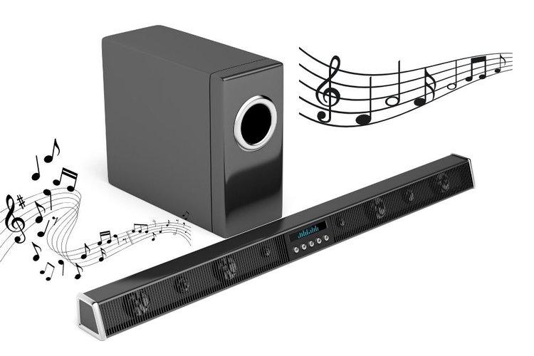 passive soundbar and speaker bring beautiful sound