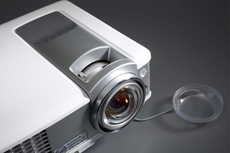 projector lens close view