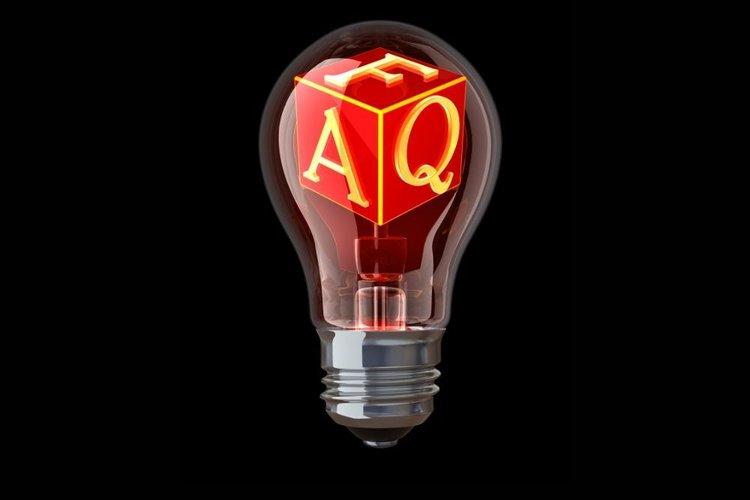 red FAQ cube in a hot bulb