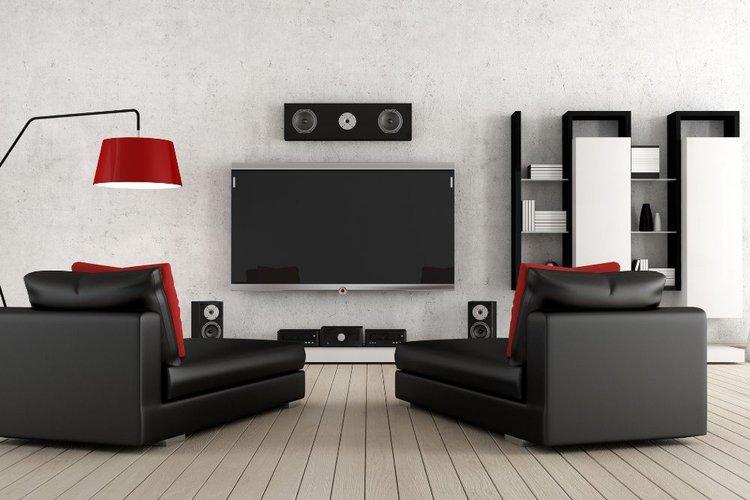 set up of speaker system in living room