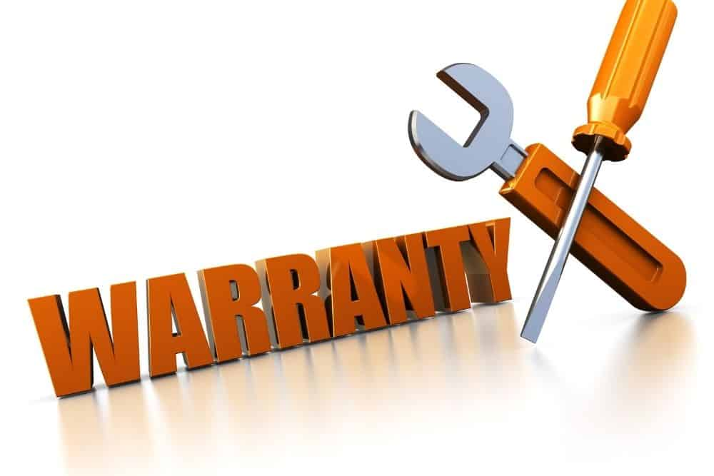 warranty with wrench and screwdriver