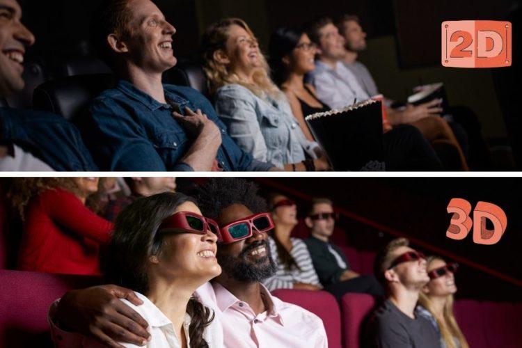 2D movie vs 3D movie