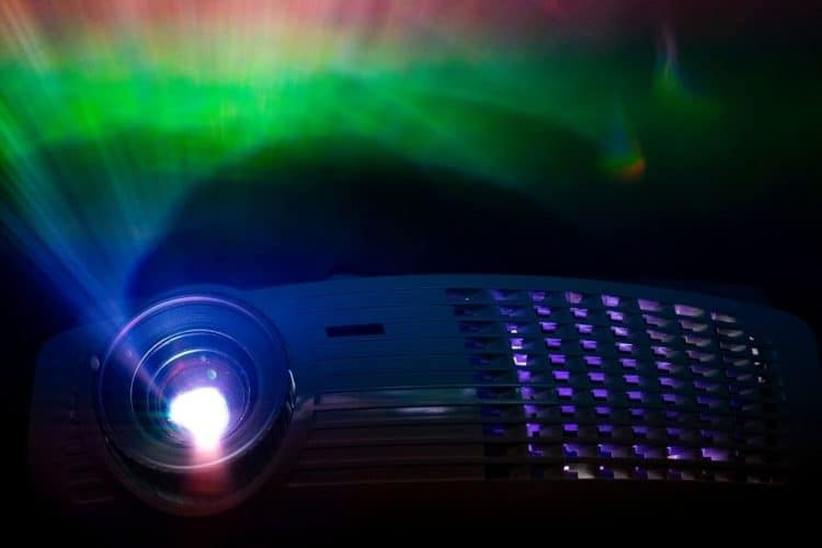 Projection light from a projector