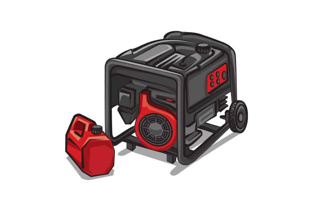 a Gas-powered generators graphic