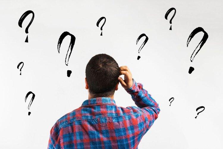 a man questioning himself