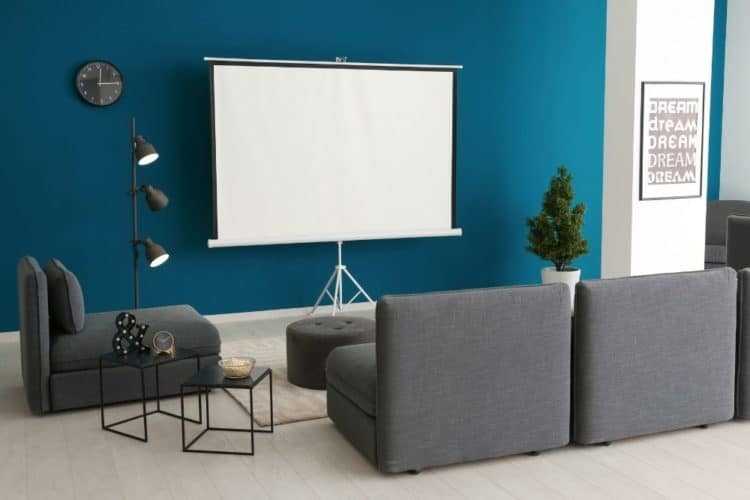 dark color wall for home projector