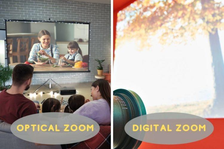 image resolution between optical zoom and digital zoom