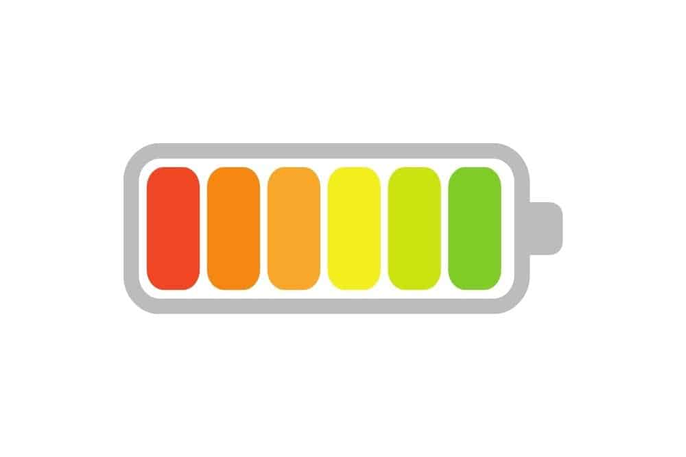 a colorful battery in graphic
