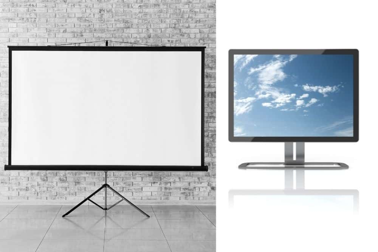 projector vs. computer monitor