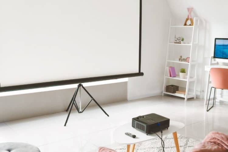 setting up projector at home