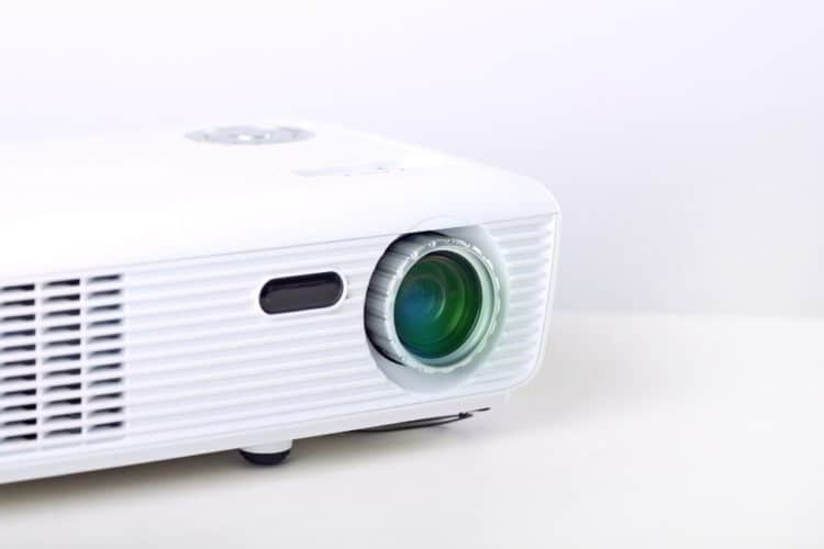 warm up a projector