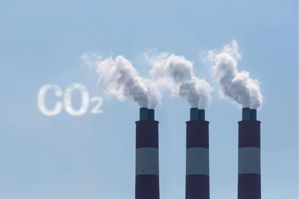 CO2 emission from industrial factory