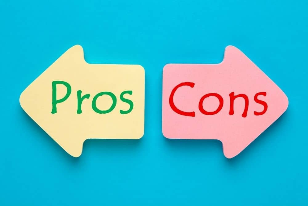 Pros and Cons arrows