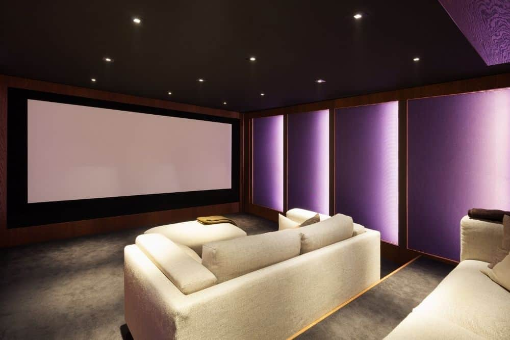 a big home theater room