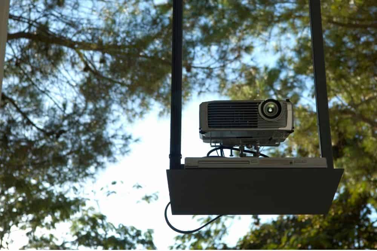 how do outdoor projectors work