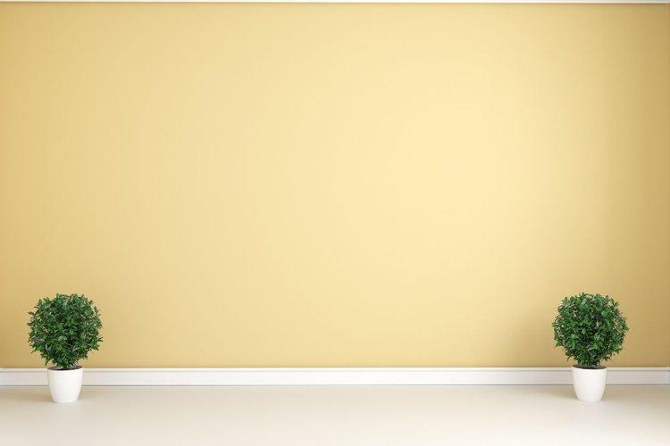 a pastel yellow wal